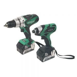 Hitachi KC18DKL/JB 18V Cordless Li-ion 2 Piece Combi Drill & Impact Driver Kit (2 x 4Ah Batteries