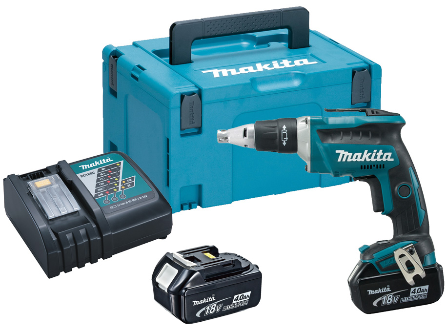 Makita DFS452RMJ 18V 2x4.0Ah Li-Ion Brushless Screwdriver Makpac Kit