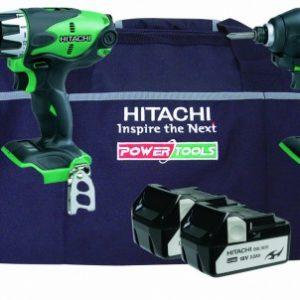 Hitachi KTL218S 2 Piece 18V Kit with DV18DSL/JL + WH18DSL/L4 + Bag