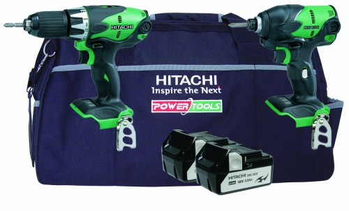 Hitachi KTL218S 2 Piece 18V Kit with DV18DSL/JL + WH18DSL/L4 + Bag