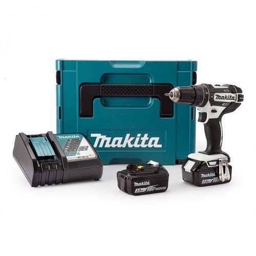 Makita DHP482RFWJ Combi Drill 18V Cordless LXT Li-ion White (2 x 3.0Ah Batteries)