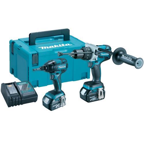 Makita DLX2040TJ 2pce Hammer Drill/Impact Driver 18V 5ah Li-on Combi Kit